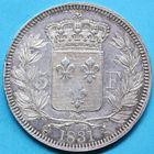 Photo numismatique  MONNAIES MODERNES FRANÇAISES HENRI V, prétendant (29 septembre 1820-1883)  5 francs.