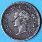 Photo numismatique  MONNAIES MODERNES FRANÇAISES HENRI V, prétendant (29 septembre 1820-1883)  Demi-franc.