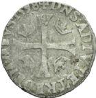 Photo numismatique  MONNAIES BARONNIALES Principauté des DOMBES HENRI II de Montpensier (1592-1608) Douzain de 1598.