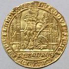 Photo numismatique  MONNAIES BARONNIALES Comté de FLANDRE LOUIS de MÂLE (1346-1384) Lion heaumé d'or.