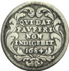 Photo numismatique  MONNAIES MONNAIES DU MONDE ITALIE SAINT-SIEGE, Innocent XI (1676-1689) Jules de 1684.