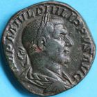 Photo numismatique  MONNAIES EMPIRE ROMAIN PHILIPPE Ier (244-249)  Sesterce.