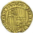 Photo numismatique  MONNAIES MONNAIES DU MONDE ITALIE NAPLES, Ferdinand Ier (1458-1494) Ducat d'or.