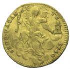 Photo numismatique  MONNAIES MONNAIES DU MONDE ITALIE SAINT-SIEGE, Siège vacant de 1740 Demi sequin d'or.