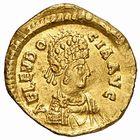Photo numismatique  ARCHIVES VENTE 2009 -Coll B CHWARTZ 1 EMPIRE ROMAIN EUDOCIE (épouse de Théodose II +460)  1- Triens frappé à Constantinople en 439