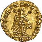 Photo numismatique  ARCHIVES VENTE 2009 -Coll B CHWARTZ 1 PEUPLES BARBARES BURGONDES  5- Triens au nom de l'empereur Anastase (491-518), au monogramme du roi Gondebaud (473-516)