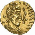 Photo numismatique  ARCHIVES VENTE 2009 -Coll B Chwartz 1 PEUPLES BARBARES MEROVINGIENS CITES BANASSAC (Lozère) 24- Triens frappé à Bannaciaco, Banassac (Lozère) par le monétaire Elafius
