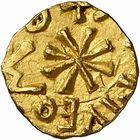 Photo numismatique  ARCHIVES VENTE 2009 -Coll B Chwartz 1 PEUPLES BARBARES MEROVINGIENS CITES COSSE...US 28- Triens indéterminé : Cosse…us