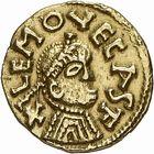 Photo numismatique  ARCHIVES VENTE 2009 -Coll B CHWARTZ 1 PEUPLES BARBARES MEROVINGIENS CITES LIMOGES (Haute-Vienne) 30- Triens frappé à Lemovecas, Limoges (Haute-Vienne) par le monétaire Saturnus