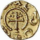 Photo numismatique  ARCHIVES VENTE 2009 -Coll B Chwartz 1 PEUPLES BARBARES MEROVINGIENS CITES LE RIEU Cne de DUN-LE-PALLETEAU (Creuse) 35- Triens de R(e ou l)u…duns, probablement Le Rieu, commune de Dun-le-Palleteau (Creuse)