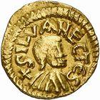Photo numismatique  ARCHIVES VENTE 2009 -Coll B Chwartz 1 PEUPLES BARBARES MEROVINGIENS CITES SENLIS (Oise) 40- Triens frappé à Silvanectes, Senlis (Oise) par le monétaire Dommus