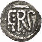Photo numismatique  ARCHIVES VENTE 2009 -Coll B CHWARTZ 1 CAROLINGIENS PEPIN LE BREF (751- sacré le 28 juillet 754 - 24 septembre 768)  55- Denier au nom de Georgius (évêque d'Ostie et missus royal)