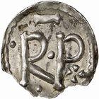 Photo numismatique  ARCHIVES VENTE 2009 -Coll B CHWARTZ 1 CAROLINGIENS PEPIN LE BREF (751- sacré le 28 juillet 754 - 24 septembre 768)  57- Denier de Narbonne (Aude)