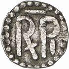 Photo numismatique  ARCHIVES VENTE 2009 -Coll B CHWARTZ 1 CAROLINGIENS PEPIN LE BREF (751- sacré le 28 juillet 754 - 24 septembre 768)  58- Denier au monogramme MR [Marsal ? (Moselle)]
