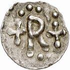 Photo numismatique  ARCHIVES VENTE 2009 -Coll B CHWARTZ 1 CAROLINGIENS PEPIN LE BREF (751- sacré le 28 juillet 754 - 24 septembre 768)  60- Denier de Reims (Marne)