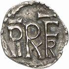 Photo numismatique  ARCHIVES VENTE 2009 -Coll B CHWARTZ 1 CAROLINGIENS PEPIN LE BREF (751- sacré le 28 juillet 754 - 24 septembre 768)  62- Denier de Saint-Mar