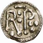 Photo numismatique  ARCHIVES VENTE 2009 -Coll B CHWARTZ 1 CAROLINGIENS PEPIN LE BREF (751- sacré le 28 juillet 754 - 24 septembre 768)  64- Denier de Saint-Denis (Seine-Saint-Denis) au nom d'Auttramnus