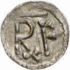 Photo numismatique  ARCHIVES VENTE 2009 -Coll B CHWARTZ 1 CAROLINGIENS PEPIN LE BREF (751- sacré le 28 juillet 754 - 24 septembre 768)  68- Denier de Verdun (Meuse)