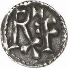 Photo numismatique  ARCHIVES VENTE 2009 -Coll B CHWARTZ 1 CAROLINGIENS CHARLEMAGNE, roi (768-800) empereur (800-814) Premier type (768 - avant 793/794) 71- Denier attribuable à l'Italie du Nord