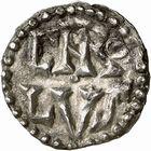Photo numismatique  ARCHIVES VENTE 2009 -Coll B CHWARTZ 1 CAROLINGIENS CHARLEMAGNE, roi (768-800) empereur (800-814) Premier type (768 - avant 793/794) 73- Denier au nom d'Ardis