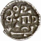 Photo numismatique  ARCHIVES VENTE 2009 -Coll B CHWARTZ 1 CAROLINGIENS CHARLEMAGNE, roi (768-800) empereur (800-814) Premier type (768 - avant 793/794) 77- Denier de Dorestad (Pays-Bas)
