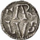 Photo numismatique  ARCHIVES VENTE 2009 -Coll B CHWARTZ 1 CAROLINGIENS CHARLEMAGNE, roi (768-800) empereur (800-814) Premier type (768 - avant 793/794) 80- Denier de Lyon (Rhône)