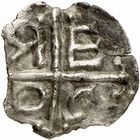 Photo numismatique  ARCHIVES VENTE 2009 -Coll B CHWARTZ 1 CAROLINGIENS CHARLEMAGNE, roi (768-800) empereur (800-814) Premier type (768 - avant 793/794) 84- Denier de Razès (Aude)