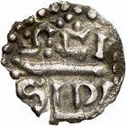 Photo numismatique  ARCHIVES VENTE 2009 -Coll B CHWARTZ 1 CAROLINGIENS CHARLEMAGNE, roi (768-800) empereur (800-814) Premier type (768 - avant 793/794) 87- Denier de Saint- Sulpice de Bourges (Cher)