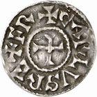 Photo numismatique  ARCHIVES VENTE 2009 -Coll B CHWARTZ 1 CAROLINGIENS CHARLEMAGNE, roi (768-800) empereur (800-814) Second tyoe au monogramme (à partir de 793/794) 90- Denier d'Agen (Lot-et-Garonne)