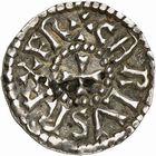 Photo numismatique  ARCHIVES VENTE 2009 -Coll B CHWARTZ 1 CAROLINGIENS CHARLEMAGNE, roi (768-800) empereur (800-814) Second tyoe au monogramme (à partir de 793/794) 91- Denier du monastère Chelles (Seine-et-Marne)