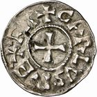 Photo numismatique  ARCHIVES VENTE 2009 -Coll B CHWARTZ 1 CAROLINGIENS CHARLEMAGNE, roi (768-800) empereur (800-814) Second tyoe au monogramme (à partir de 793/794) 92- Denier de Narbonne (Aude)