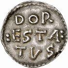 Photo numismatique  ARCHIVES VENTE 2009 -Coll B CHWARTZ 1 CAROLINGIENS LOUIS LE PIEUX, empereur (janvier 814-20 juin 840) Type trilinéaire (à partir de 818) 96- Denier de Dorestadt (Pays-Bas)