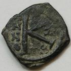 Photo numismatique  MONNAIES EMPIRE BYZANTIN JUSTIN II (565-578)  Demi-follis.