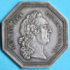 Photo numismatique  JETONS ANCIEN RÉGIME DOMAINES DU ROI Lettres patentes Jeton de 1760.