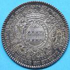 Photo numismatique  JETONS ANCIEN REGIME PARIS L. B. de Bernage, 6e Prévôté Jeton de 1754.