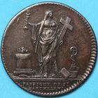 Photo numismatique  JETONS ANCIEN REGIME EGLISES DE PARIS Fabrique de Saint-Barthélemy Jeton de cuivre.