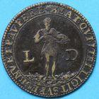 Photo numismatique  JETONS ANCIEN RÉGIME ÉGLISES DE PARIS Saint-Jean en Grève Jeton de François de Raisse.