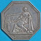 Photo numismatique  JETONS ANCIEN REGIME CORPORATIONS Banques et établissements financiers Jeton de la Caisse d'Escompte de (1802).