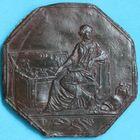 Photo numismatique  JETONS ANCIEN REGIME CORPORATIONS Banques et établissements financiers Jeton uniface en étain. Essai de jeton?