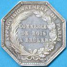 Photo numismatique  JETONS ANCIEN REGIME CORPORATIONS Commerce de bois à brûler Jeton.