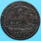 Photo numismatique  JETONS ANCIEN REGIME CHAMPAGNE REIMS, sacre de Louis XIII Jeton de Nuremberg, 1610.