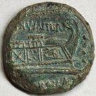 Photo numismatique  MONNAIES RÉPUBLIQUE ROMAINE C. Numitorius (vers 133)  Triens frappé à Rome.