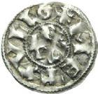 Photo numismatique  MONNAIES CAROLINGIENS TYPES IMMOBILISES du Xe siècle.  Denier de Melle au nom de Charles.