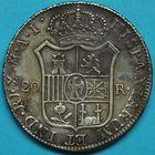 Photo numismatique  MONNAIES MODERNES FRANÇAISES JOSEPH NAPOLEON, roi des Espagnes et des Indes (1808-1814)  Duro de 20 reales.