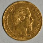 Photo numismatique  MONNAIES MODERNES FRANÇAISES NAPOLEON III, empereur (2 décembre 1852-1er septembre 1870)  5 francs or.