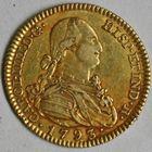 Photo numismatique  MONNAIES MONNAIES DU MONDE ESPAGNE CHARLES IV (1788-1808) 2 escudos or.