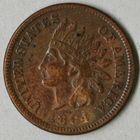 Photo numismatique  MONNAIES MONNAIES DU MONDE ÉTATS-UNIS d'AMÉRIQUE du NORD Depuis 1776 One cent de 1884.