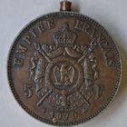 Photo numismatique  MEDAILLES MODERNES FRANÇAISES NAPOLEON III, empereur (2 décembre 1852-1er septembre 1870)  Médaille boîte du module de 5 francs.