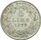 Photo numismatique  MONNAIES MONNAIES DU MONDE ITALIE SAINT-SIEGE, Pie IX (1846-1878) 5 lire.