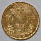 Photo numismatique  MONNAIES MONNAIES DU MONDE SUISSE CONFEDERATION 10 francs or de 1913.